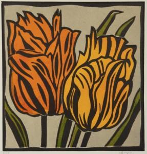 Kleine tulpen en 2 – beeldmaat 26 x 25 cm